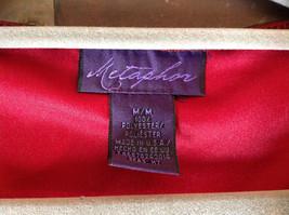 Metaphor Black Mesh Red Background Swirly Beaded Long Sleeve Shirt Size Medium image 7