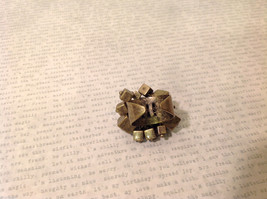 Metal with Patina Gold Tone Ring with Dangling Square Boxes Adjustable Size image 7