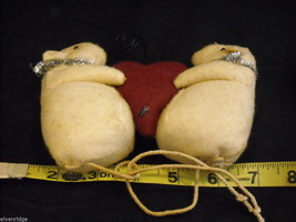 Mice Photo Holder with fabric heart for Valentine's Day or love occasion image 2