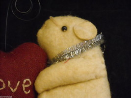 Mice Photo Holder with fabric heart for Valentine's Day or love occasion image 3