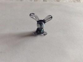 Micro Miniature hand blown glass made USA NIB purple and blue rabbit image 4