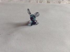 Micro Miniature hand blown glass made USA NIB purple and blue rabbit image 2