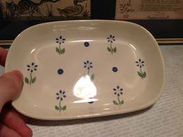 Pfaltzgraff Ceramic Serving Bowl with Flowers Made in USA Very Nice image 3