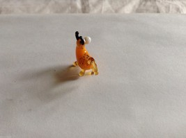 Micro Miniature small hand blown glass made USA NIB Bull image 3
