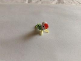 Micro Miniature small hand blown glass made USA NIB green & white parrot image 2