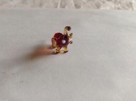 Micro Miniature small hand blown glass made USA NIB min brown  elephant image 3