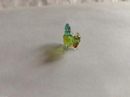 Micro Miniature small hand blown glass made USA NIB multicolored hen chicken image 2