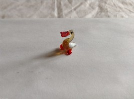 Micro Miniature small hand blown glass made USA NIB pelican w orange beak image 2