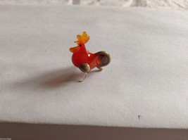 Micro Miniature small hand blown glass made USA NIB rooster image 3