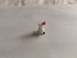 Micro Miniature small hand blown glass made USA NIB white duck w black feet image 2