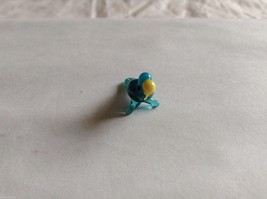 Micro Miniature small hand blown glass made USA NIB turquoise w yellow parrot image 2