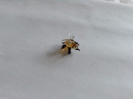 Micro Miniature small hand blown glass made USA tiny honey bee w clear wings image 2