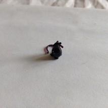 Micro Miniature small hand blown glass purplish black rat made USA NIB image 3