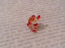 Micro miniature hand blown glass figurine  USA NIB clear pig w color accents image 4
