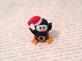 Micro miniature hand blown glass Penguin In Christmas Hat USA NIB image 7