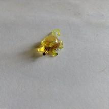 Micro Miniature small hand blown glass yellow mini mouse made USA NIB image 2