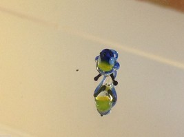 Micro miniature small hand blown glass blue yellow bluebird made in USA  NIB image 4