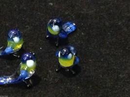 Micro miniature small hand blown glass blue yellow bluebird made in USA  NIB image 6