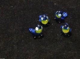 Micro miniature small hand blown glass blue yellow bluebird made in USA  NIB image 11