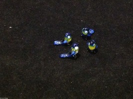 Micro miniature small hand blown glass blue yellow bluebird made in USA  NIB image 8
