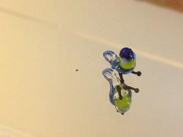 Micro miniature small hand blown glass blue yellow bluebird made in USA  NIB image 3