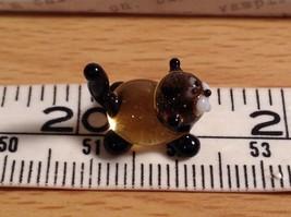 Micro miniature small hand blown glass figurine black and yellow cat USA  NIB image 6