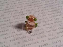 Micro miniature small hand blown glass figurine clear green bear USA  NIB image 4