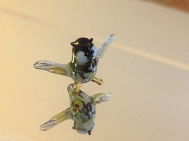 Micro miniature small hand blown glass flapping owl made in USA  NIB image 3