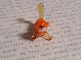 Micro miniature small hand blown glass orange cat USA made image 5