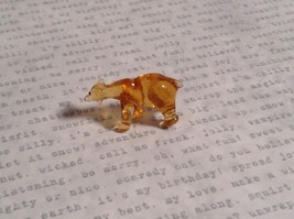 Micro miniature small hand blown glass one eye cyclops bear USA made image 3