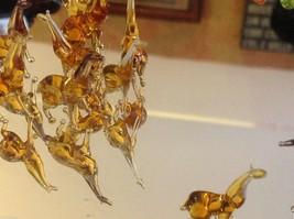 Micro miniature small hand blown glass standing brown giraffe image 3