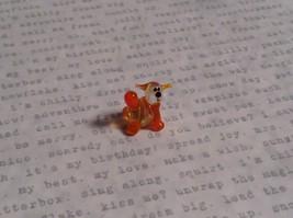 Micro miniature small hand blown glass striped orange cat w/ whiskers USA  NIB image 5