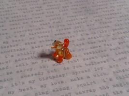 Micro miniature small hand blown glass striped orange cat w/ whiskers USA  NIB image 3