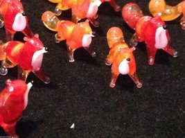 Micro miniature small hand blown glass red fox USA MADE image 4