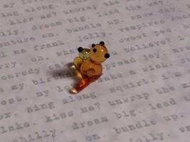 Micro miniature small hand blown glass tiny figurine amber bear USA  NIB image 3