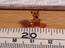 Micro miniature small hand blown glass tiny figurine amber bear USA  NIB image 6