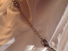 Pink Square 16 CT CZ Stone White Gold Rhodium Pendant Necklace Adjustable Length image 6