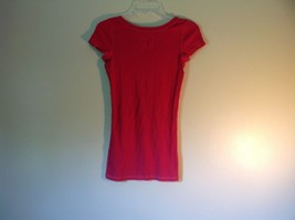 Pink Short Sleeve Hollister Stretch Top Size Medium image 4