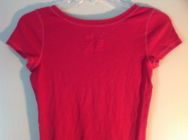 Pink Short Sleeve Hollister Stretch Top Size Medium image 3