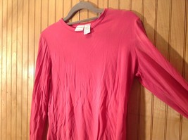 Pink Stretch Isaac Mizrahi Long Sleeve Top Size Small Made in USA image 3