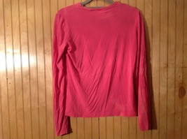 Pink Stretch Isaac Mizrahi Long Sleeve Top Size Small Made in USA image 4