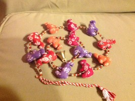 Mini Fabric Elephant Strand w Beads and Bells String Connector image 4