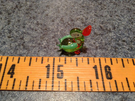 Mini Figurine Hand Blown Glass Light Green Duck Made in USA image 6