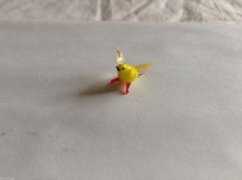 Micro miniature small hand blown glass yellow bird finch or canary USA made image 2