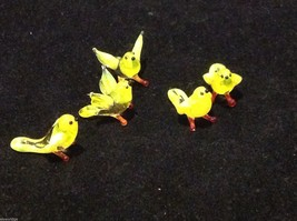Micro miniature small hand blown glass yellow bird finch or canary USA made image 6