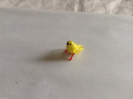 Micro miniature small hand blown glass yellow bird finch or canary USA made image 11