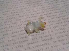 Mini Hand Blown Glass Clear Piglet with Yellow Accents Made in USA image 5