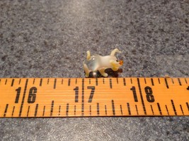 Mini Hand Blown Glass Clear Piglet with Yellow Accents Made in USA image 7