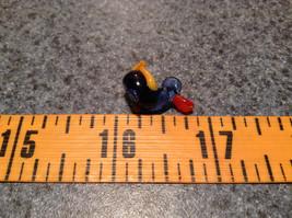 Mini Hand Blown Glass Figurine Dark Blue Duck with Orange Wings Made in USA image 7