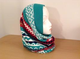 Mini Nordic infinity scarf hood warm cozy color choice blue orange green pink image 13